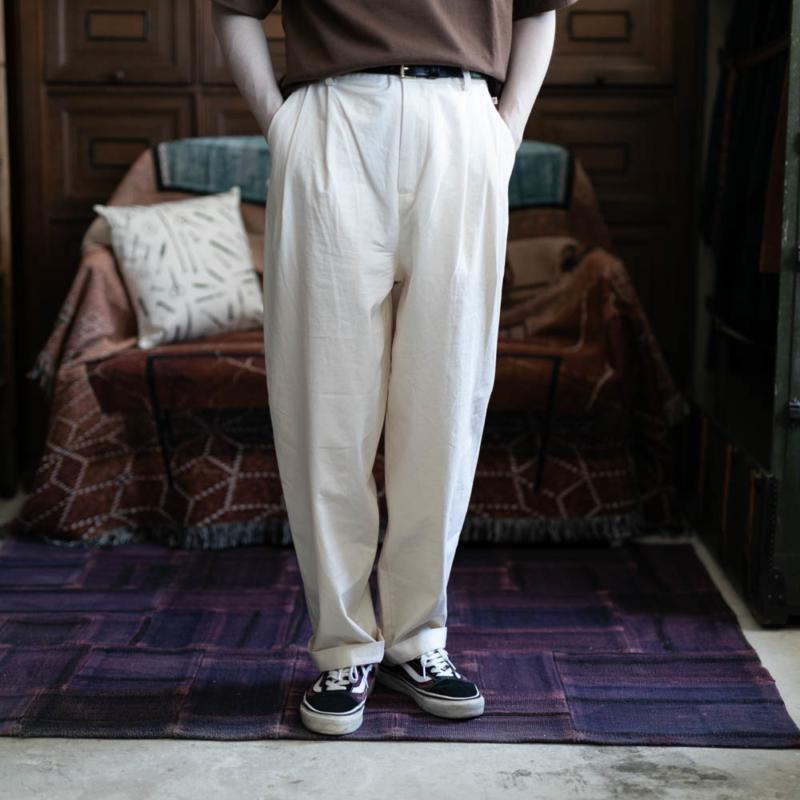 FRANK LEDER VINTAGE BEDSHEET TROUSERS 80:Naturalの通販取り扱い