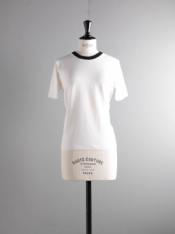 BATONER | BN-19SL-022 White×Black スムースニットTシャツの商品画像
