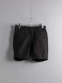 Tapia LOS ANGELES | SHORT ARMY DUCKS 6.5OZ Garment Dyed Black ダック生地ショーツの商品画像