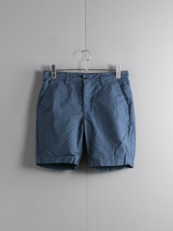 Tapia LOS ANGELES | SHORT ARMY DUCKS 6.5OZ Garment Dyed Navy ダック生地ショーツの商品画像