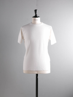 BATONER | BN-19SM-019 White スムースニットTシャツの商品画像