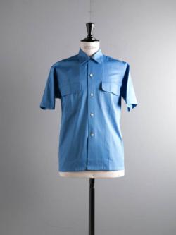 Sans Limite | SH03BH Blue バーバリークロスボックス大開襟半袖シャツの商品画像