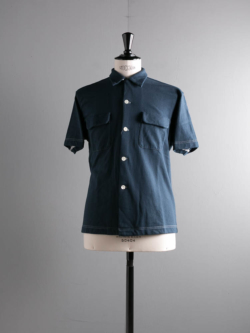 Sans Limite | S1901009 SH03BH Navy ミニ裏毛ボックス大開襟半袖シャツの商品画像