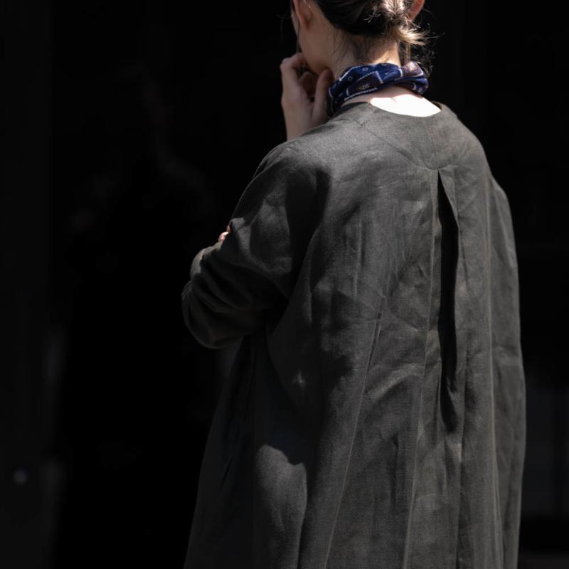 オネット Vネックロングシャツカーディガン arabic greyの通販取り扱い