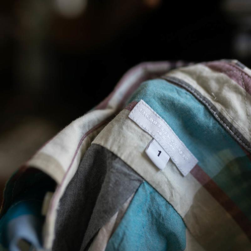 エンジニアードガーメンツ CLASSIC DRESS – BIG MADRAS PLAID Khaki