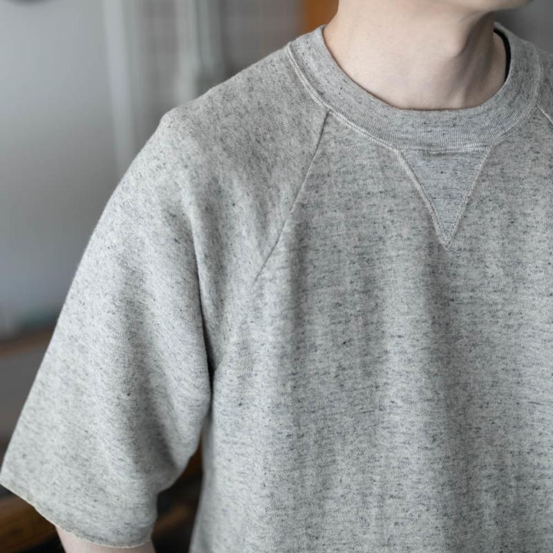 フィルメランジェ 春夏半袖スウェットシャツ ライトグレーの通販取り扱い