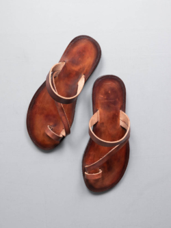 PEZZETTINO | SFUMATO LEATHER SANDALS Brown スフマート三層レザーサンダル