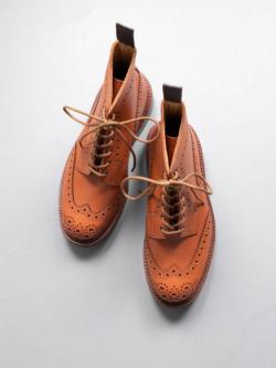 Tricker's | MOLTON BROGUE BOOTS C Shade Gorse ブローグカントリーブーツ モールトンの商品画像