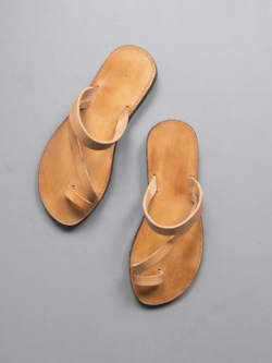 PEZZETTINO | NATURAL LEATHER SANDALS Tan ヌメ三層レザーサンダル