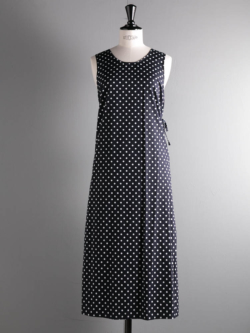 ENGINEERED GARMENTS | SUN DRESS – BIG POLKA DOT BROADCLOTH Dk. Navy サンドレスの商品画像