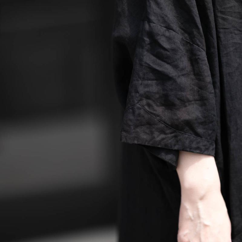 アウリコ ONEPIECE2 Black リネンシャツドレスの通販取り扱い