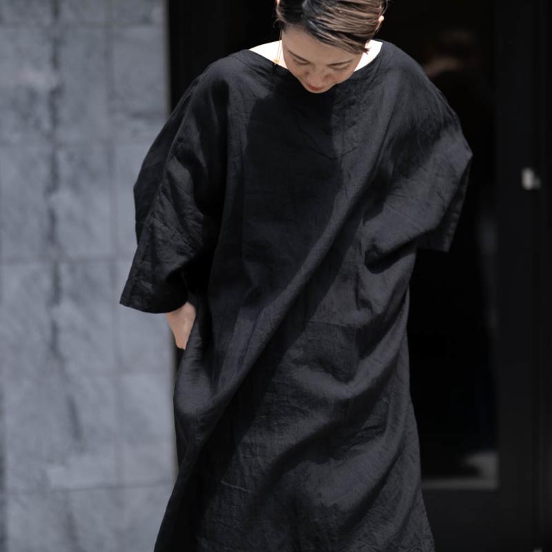アウリコ ONEPIECE2 Black リネンシャツドレス 日本製 の通販取り扱い