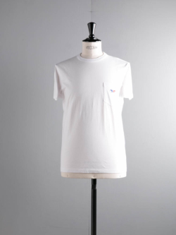 MAISON KITSUNE | TEE SHIRT FOX EMBROIDERED White フォックス刺繍Tシャツの商品画像