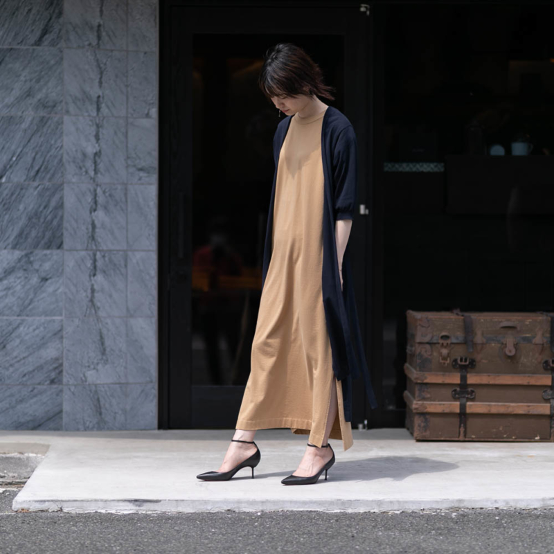 BATONER SUPIMA TWIST COTTON SHORT SLEEVE LONG CARDIGAN