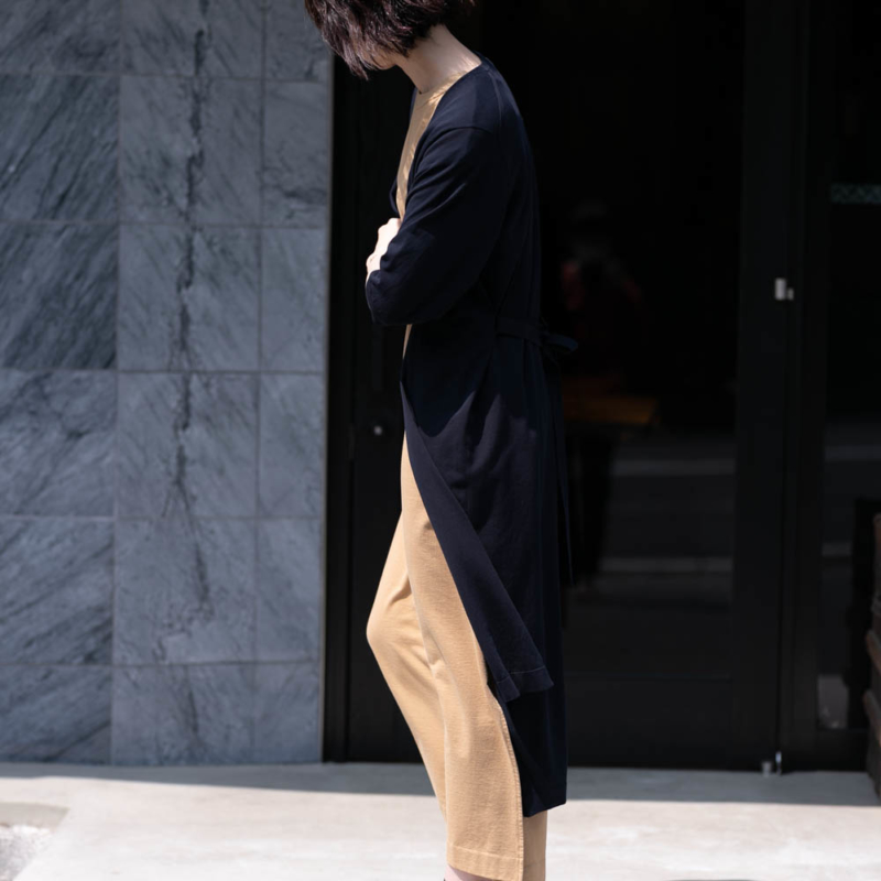 バトナー SUPIMA TWIST COTTON SHORT SLEEVE LONG CARDIGAN