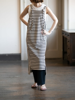 ABOUT | PASELESDRS2 Black Stripes リネンコットンワンピース