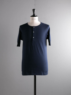 207 HENLEY 1/4 SLV. Ink Blue