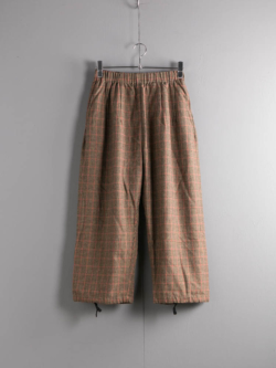 ENGINEERED GARMENTS | BALLOON PANT – GUNCLUB CHECK Brown/Red バルーンパンツ