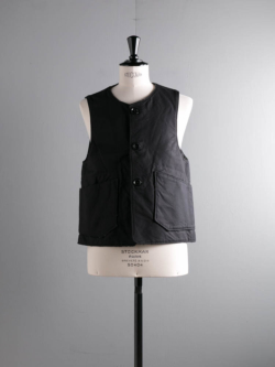 ENGINEERED GARMENTS | OVER VEST – DOUBLE CLOTH Black オーバーベストの商品画像