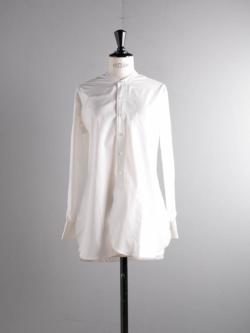 Sans Limite | W1301006 SH06 White ブロード長丈スタンドカラーシャツの商品画像