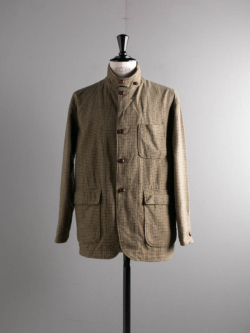 ENGINEERED GARMENTS | LOITER JACKET – GUNCLUB CHECK Tan/Green ロイタージャケット
