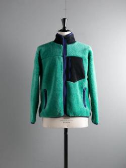 FilMelange | BULL Emerald Green オーセンティックウールボアフルジップジャケット ブルの商品画像