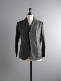 ARBRE | HOMESPUN EASY JACKET Gray/Navy ホームスパンツイードジャケットの商品画像