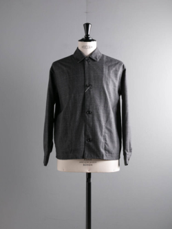 tilt The authentics | 19AW-SH04 SOUTIEN COLLAR SHIRT Melange ウインドーペンウールシャツジャケット