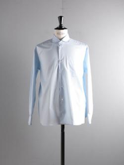 Sans Limite | W1801104 SH04B Sax ブロードボックスワイドスプレッドシャツの商品画像