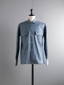 Sans Limite | W1901136 SH03B Chambrey オーガニックダンガリーボックス大開襟シャツの商品画像