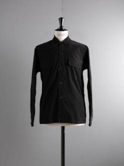 Sans Limite | W1901138 SH03B Black コーデュロイボックス大開襟シャツの商品画像