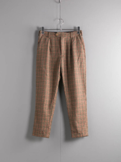 ENGINEERED GARMENTS | SUNSET PANT – GUNCLUB CHECK Brown/Red サンセットパンツ