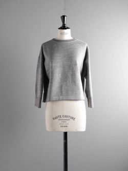 FilMelange | MIA Black Melange カンピオーネ裏毛スウェットプルオーバー ミアの商品画像