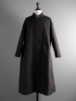 YARMO | QUILT LINED COAT COTTON CANVAS Black/Black Quilt Lining キルトライニングコットンキャンバスコートの商品画像
