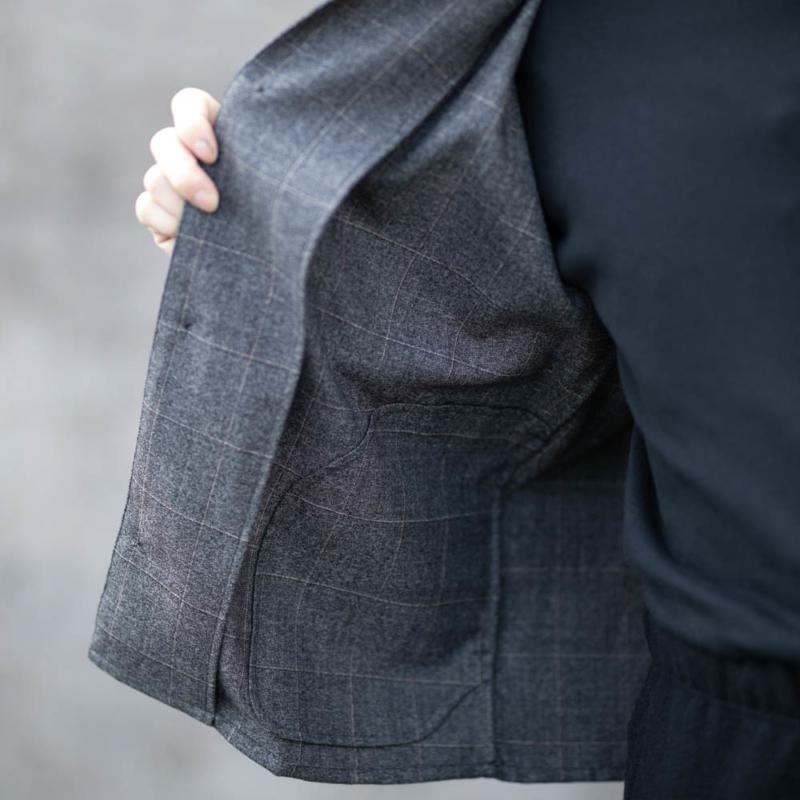 tilt The authenticsのウールシャツジャケットの通販取扱い