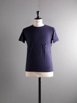 FilMelange | DIZZY Navy Melange 半袖クルーネック胸ポケTシャツの商品画像