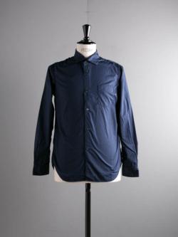 Sans Limite | W1801017 SH04 Navy ブロード3本針ワイドスプレッドシャツ