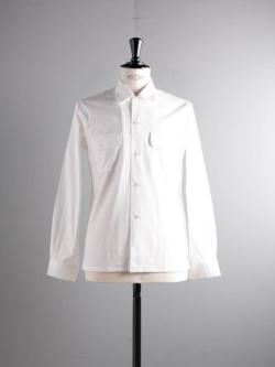 Sans Limite | W1301003 SH03 White ブロード大開襟シャツの商品画像