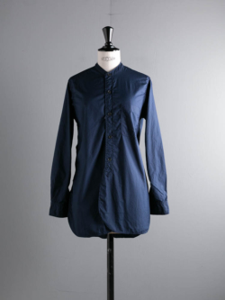 Sans Limite | W1801018 SH06 S Navy ブロード2本針スタンドカラーシャツの商品画像