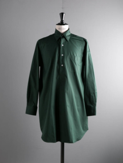 APPLETREES | ALL OVER THE WORLD Exclusive Green ポプリンセミロングシャツ オールオーバーザワールドの商品画像
