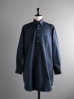 APPLETREES | ALL OVER THE WORLD Midnight Blue ポプリンセミロングシャツ オールオーバーザワールド
