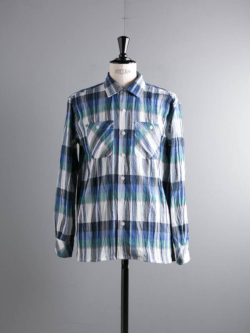 ENGINEERED GARMENTS | CLASSIC SHIRT – CREPE CHECK Nvy/Grn クラシックシャツ