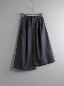 TUCK SKIRT - HIGH COUNT TWILL Dk. Navy