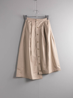 TUCK SKIRT - HIGH COUNT TWILL Khaki
