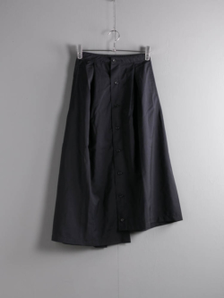 ENGINEERED GARMENTS | TUCK SKIRT – TROPICAL WOOL Dk. Navy タックスカートの商品画像