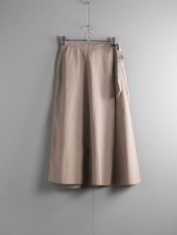 ENGINEERED GARMENTS | WRAP SKIRT – NYCO MINI TATTERSALL Khaki ラップスカートの商品画像