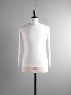 GICIPI | 2003P Bianco コットンフライス長袖Tシャツの商品画像