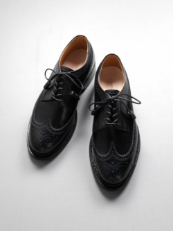 CALMANTHOLOGY | A918 LONG WING TIP Black ロングウイングチップダービーシューズの商品画像