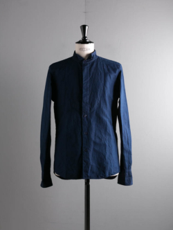 COTTON LINEN SHIRT Navy