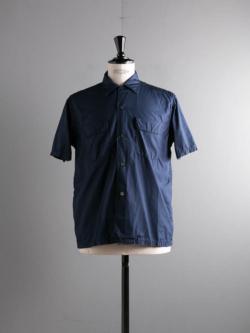 Sans Limite | S2001331 SH03BH Navy 極太ステッチ大開襟ボックス半袖シャツの商品画像